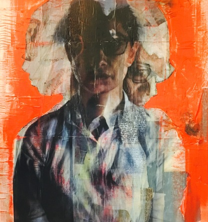Traces II, 120 x 120 cm, mixed media on canvas